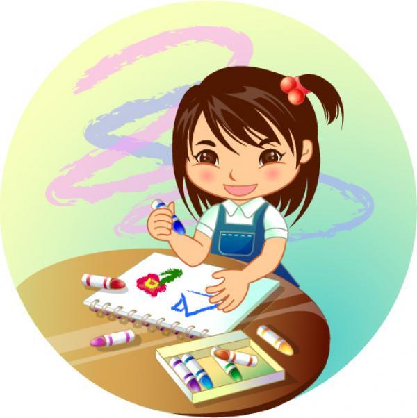 儿童劳动卡通图片